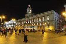 Real Casa de Correos - Puerta Del Sol at night