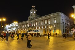 Real Casa de Correos - Puerta Del Sol at night