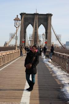 La fameuse photo sur Brooklyn Bridge