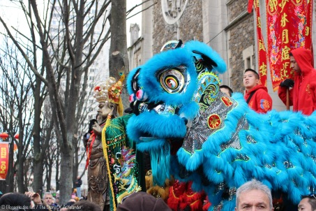 Nouvel an chinois dans les rues de Paris