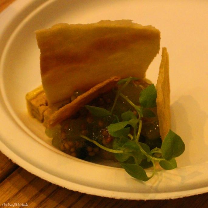 Foie Gras par Frenchie Restaurant, Pastrami lucullus, chutney de concombre